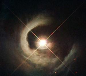 تصویر تلسکوپ هابل از یک ستارهی جدید