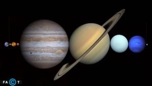 تمامی سیارات منظومه شمسی در فاصله بین زمین و ماه جا می شوند
