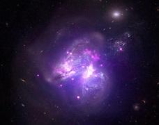 چاندرا ادغام دو کهکشان را به تصویر کشید