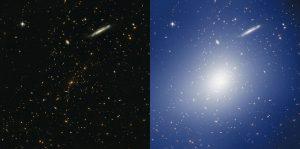 بررسی خوشه کهکشانیای پر جرم که فضای اطرافش را خم کرده