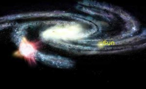 ایجاد حباب در کهکشان راه شیری بدلیل برخورد ابر